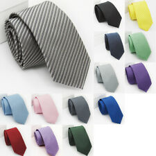 Mens Classic Silk Slim Tie Fashion Jacquard Woven Narrow Necktie Party Business