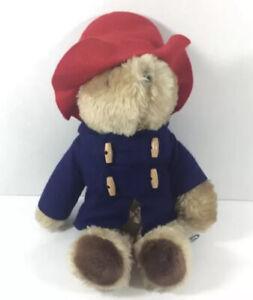 "Vintage Eden Paddington Bear Plush 1981 Stuffed Animal Blue Jacket Red Hat 14"""