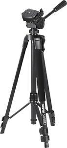 "Sunpak 5858DLX PlatinumPlus 58"" Video, Camers, Phone & Camcorders Black Tripod"