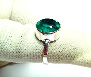 Blue Topaz Gemstone 925 Silver Handmade Jewelry Ring J-2096