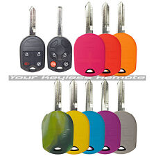Colored Key Remote Head Protective Case Cover Jacket Silicone Rubber Fob Ford