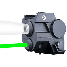 Mini Tactical Green Laser Sight with CREE LED Flashlight Combo for Pistol w/Rail