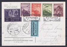 Flugpostkarte mit Vignette gelaufen Wien - Prag mit SST Rotunde 7.Sept.1937