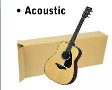 """20x8x50"""" Acoustic Guitar Shipping Packing Boxes Moving Keyboard Heavy Duty"""