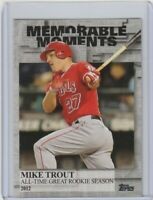 2017 TOPPS SERIES 2 MEMORABLE MOMENTS MIKE TROUT #MM50 LOS ANGELES ANGELS