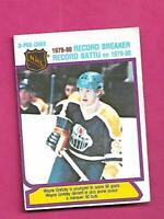 1980-81 OPC  # 3 OILERS WAYNE GRETZKY RECORD BREAKER VG+ CARD (INV# D2763)