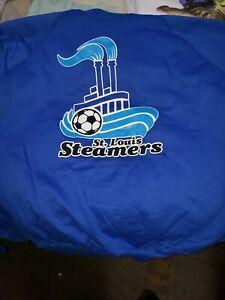 VTG 1980s St Louis Steamers Major League Soccer IMLS 50/50 sweatshirt made USA