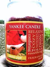 """SET/LOT OF 12 Yankee Candle """"SANTA'S PIPE""""~Tobacco~ Large 22 oz~ WHITE LABEL~NEW"""