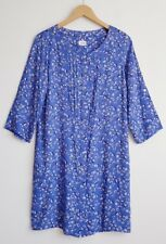 M&S AUTOGRAPH WEEKEND LADIES BLUE FLORAL SHIRT DRESS SIZE 10