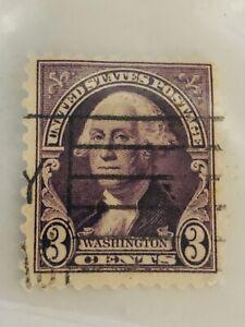 Vintage Rare 1932 US 3 Cent George Washington Stamp | Purple / Violet