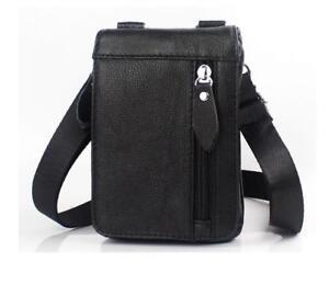 Men's Genuine Leather Belt Waist Bag Phone Pouch Shoulder Messenger Fanny Pack