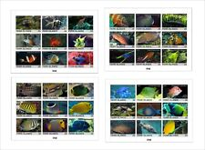 2010 FISH MARINE LIFE 4 SOUVENIR SHEETS MNH IMPERFORATED 3x3