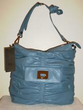 NWT DONALD PLINER PEMA-08 BLUE LEATHER SATCHEL CROSSBODY SHOULDER BAG PURSE $335
