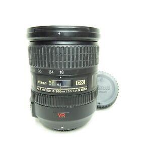 EXCELLENT Nikon AF-S DX 18-200mm f/3.5-5.6 VR Zoom F-Mount Lens