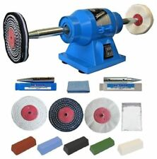"6"" Bench Grinder 150 W Bench Polisher with 4"" METAL Polissage Kit Machine"