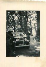 PHoto d'un beau véhicule automobile sous les arbres