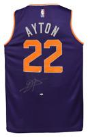 DEANDRE AYTON Autographed Phoenix Suns Purple Fastbreak Jersey STEINER