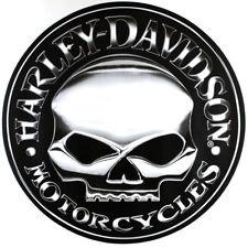 Riesiger Harley Davidson HD Wllie Skull Emblem Aufkleber Decal Sticker 72cm x 72