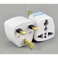 2x Travel to UK England Great Britain Plug Power Adapter Converter from EU US AU