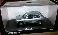 VERY RARE NOREV VW GOLF MK1 GTI SERIES ONE SILVER DIE CAST MODEL CAR 1:43 SCALE