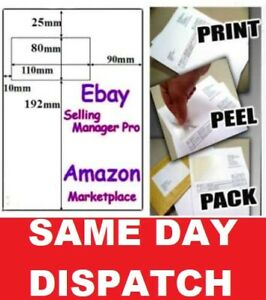 1000 X A4 INTEGRATED LABELS - Ebay AMAZON Invoice paper S11 Quick delivery