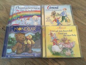 Hörbücher (4 CDs): CONNI a.d. Bauernhof / ... kommt i.d. KiGa / Der Mondbär / ..