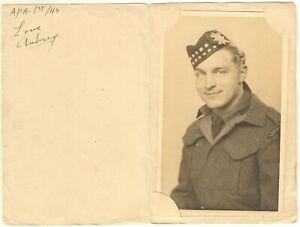 """Photo Young Soldier """"Aubrey"""" Lanark & Renfrew Scottish 1945 Ontario"""