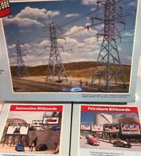 Lot of 3 Walthers Cornerstone HO Model Kits - Transmission Towers Billboards