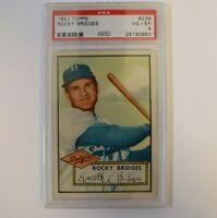 1952 Topps #239 Rocky Bridges PSA 4