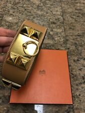 Hermes Brown Collier De Chien Belt Size 60 (Retail $2350)