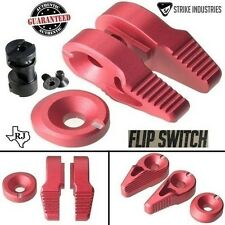 Strike Industries FLIP SWITCH RED Ambi Safety Ambidextrous 60 90 degree + Cap