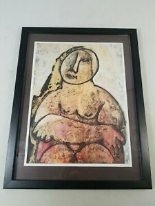 """""""ORESTE DEQUEL"""" Signed Original Abstract Expressionism Painting"""