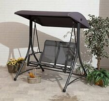 2 Seat Swing Chair In Charcoal All Weather  Heavy Duty Fast Free Delivery