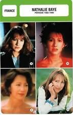 FICHE CINEMA :  NATHALIE BAYE 1982-1999 -  France (Biographie/Filmographie)