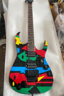 6-Strings Electric Guitar Water Transfer Printing Black Hardware Basswood Body for sale