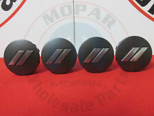 DODGE CHALLENGER CHARGER Matte Gray Chrome Stripe Wheel Center Cap Set Of 4 OEM