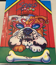 Rare 1989 Lisa Frank Vintage Spikes Place Folder Bull Dog Original Price Tag