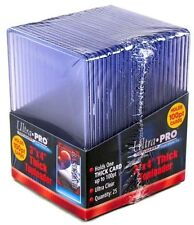 25 Ultra Pro 3x4 100pt Super Thick Toploader Holder for Thicker Jersey Cards