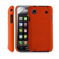Housse étui coque rigide pour Samsung Galaxy S i9000 couleur orange + Film de pr