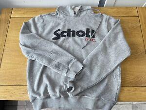 Mens Schott Hoody Grey Size XL