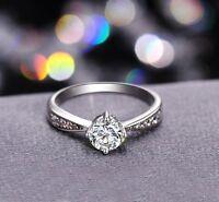 18K White Gold GP Austrian Crystal AAA CZ Zircon Lady Marriage wedding band Ring