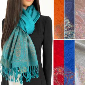 Large Paisley Pashmina Shawl Wrap Evening Scarf Long Cotton Rainbow Ladies Gift