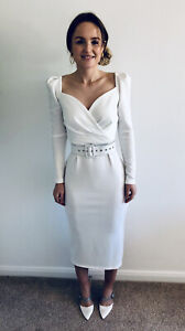 NEW WHITE WEDDING OCCASION OR EVENING DRESS