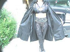 Black Full length Swing Russian Swakara Fur vest or sleeveless Coat M-L