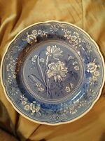 """The Spode Blue Room Collection Georgian Series """"Botanical"""" Dinner Plate 10 1/2"""""""