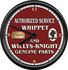 Whippet Willys Knight Willy's Auto Sales Service Parts Dealer Sign Wall Clock