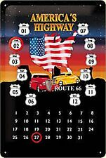 Route 66 Americas Highway metal calendar (na 3020)