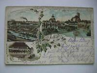 Ansichtskarte Lauffen 1897 Gasthaus Firmenansicht Burg