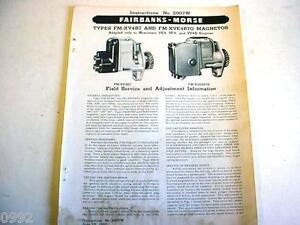 1952 Fairbanks-Morse Magneto Information