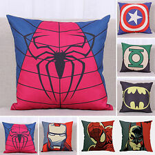 Marvel Super Hero Decor Pillow Case Bed Sofa Throw Linen Cotton Cushion Covers